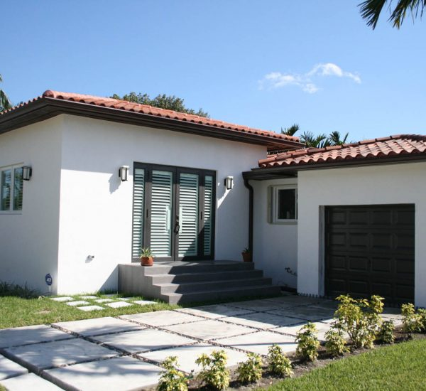 Finalized after photo of a home addition in Miami, FL.